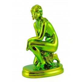 Zsolnay Iridescent Eosin Kneeling Woman Figurine