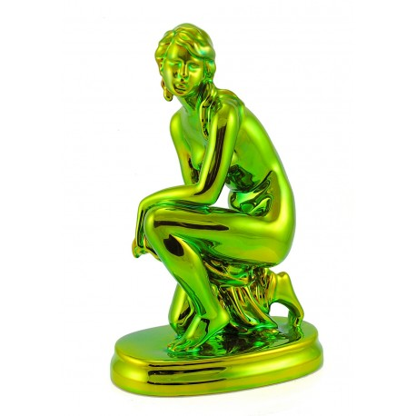 Zsolnay Eosin Kneeling Woman Figurine