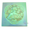 Zsolnay Iridescent Eosin Tile With Lady