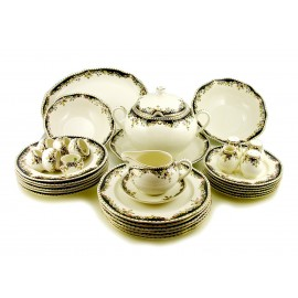 Zsolnay Sissi Decor Dinner Set For 6