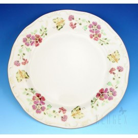 Zsolnay Butterfly Decor Dinner Plate
