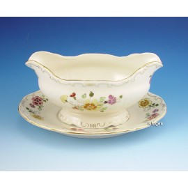 Zsolnay Butterfly Decor Gravy Boat with Under Plate