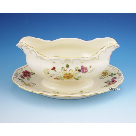 Zsolnay Butterfly Decor Gravy Boat with Fixed Stand