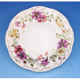 Zsolnay Butterfly Decor Bread & Butter Plate