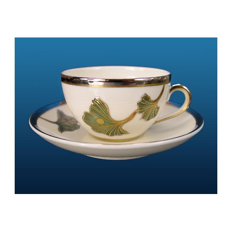 Zsolnay Autumn Decor Mocha Cup & Saucer