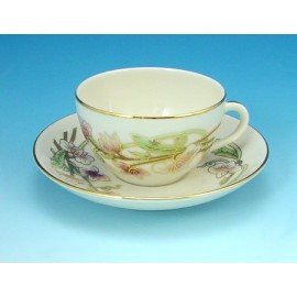 Zsolnay Spring Decor Mocha Cup & Saucer