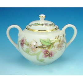 Zsolnay Spring Decor Mocha Sugar Pot