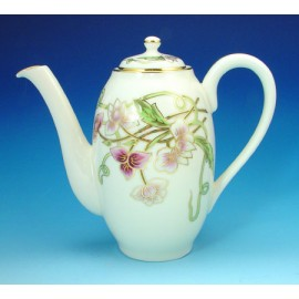 Zsolnay Spring Decor Mocha Coffee Pot