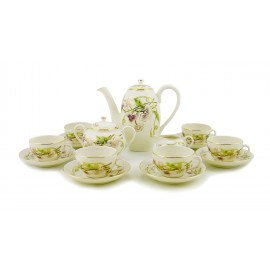 Zsolnay Spring Decor Espresso Coffee Set