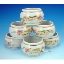 Zsolnay Spring Decor Napkin Ring Set of 6