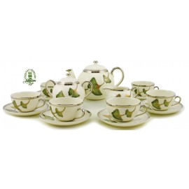 Hungarian Porcelain Zsolnay Autumn Decor Tea Set