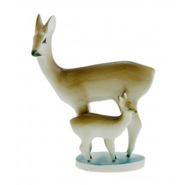 Vintage Zsolnay Deer with Fawn Figurine