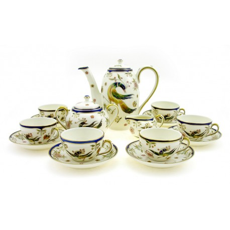 Zsolnay Phoenix Decor Mocha Coffee Set