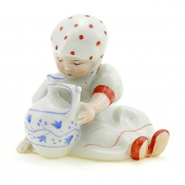 Vintage Zsolnay Girl Figurine with Jug