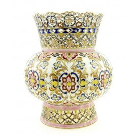 Zsolnay Natural Color Openwork Vase