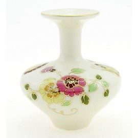 Small Zsolnay Butterfly Decor Porcelain Vase