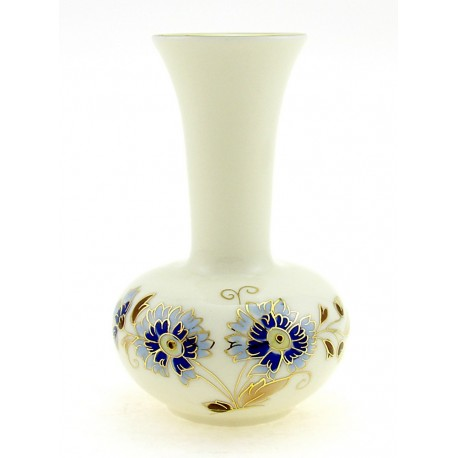Small Zsolnay Cornflower Decor Vase