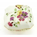 Zsolnay Butterfly Decor Covered Dish