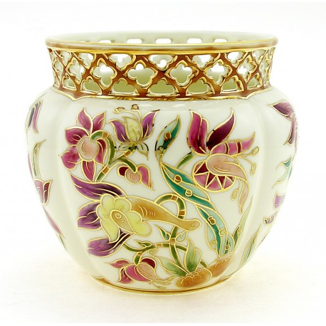 Small Zsolnay Natural Color Cachepot