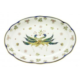 Zsolnay Phoenix Decor Serving Platter Oval