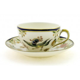 Zsolnay Phoenix Decor Mocha Cup and Saucer