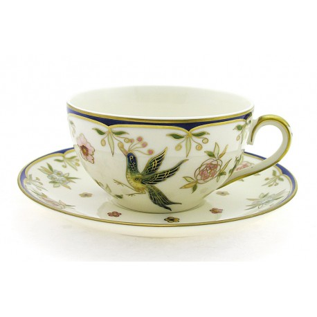 Zsolnay Phoenix Decor Tea Cup and Saucer