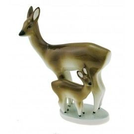 Vintage Zsolnay Deer and Fawn Figurine