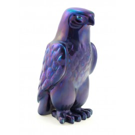 Zsolnay Purple Eosin Falcon Figurine