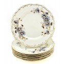 Zsolnay Cornflower Decor Dessert Plates Set of Six