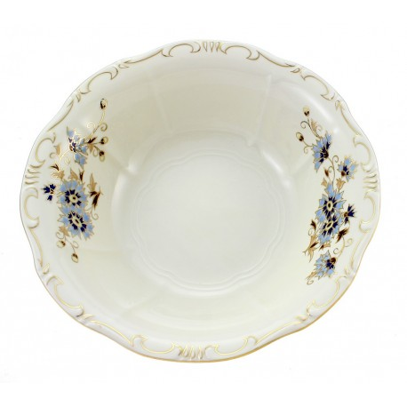 Zsolnay Cornflower Decor Round Serving Bowl