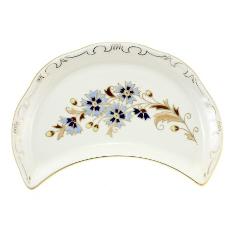 Zsolnay Cornflower Decor Bone Plate