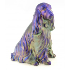 Zsolnay Unique Eosin Spaniel Dog Figurine