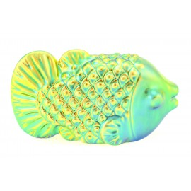 Zsolnay Iridescent Eosin Fish Figurine