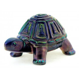 Zsolnay Unique Iridescent Eosin Turtle Figurine