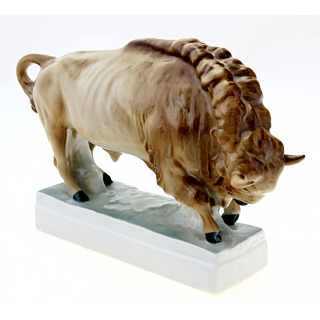 Vintage Zsolnay Standing Bull Figurine