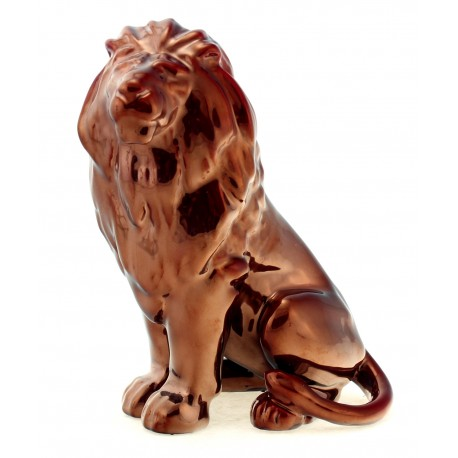 Zsolnay Red Eosin Lion Figurine