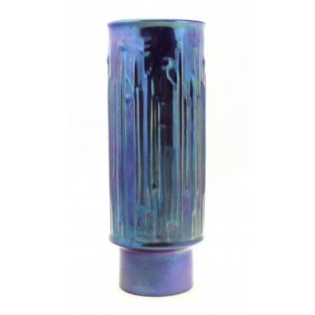 Zsolnay Unique Iridescent Eosin Art Deco Vase