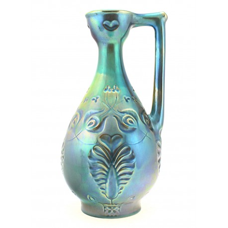 Vintage Zsolnay Iridescent Eosin Pitcher