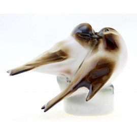 Vintage Zsolnay Pair of Love Birds Figurine