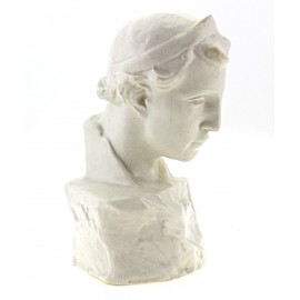 Antique Zsolnay Bust 1900s