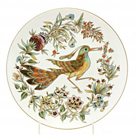Zsolnay Porcelain Wall Plate with Bird