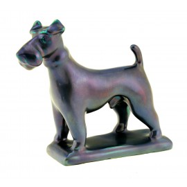 Zsolnay Purple Eosin Fox Terrier Dog Figurine