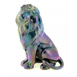 Zsolnay Purple Iridescent Eosin Lion Figurine