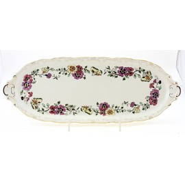Zsolnay Butterfly Decor Serving Platter Sandwich Platter