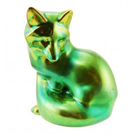 Zsolnay Iridescent Eosin Fox Figurine