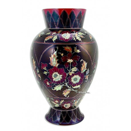 Zsolnay Multicolor Eosin Vase Artist Signed